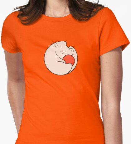 Cat loves wool Womens Fitted T-Shirt