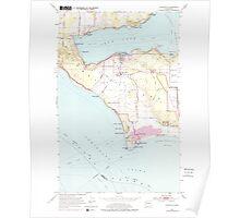 USGS Topo Map Washington State WA Coupeville 240714 1953 24000 Poster