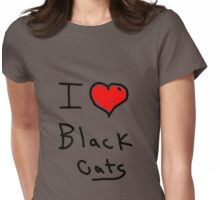 i love halloween black cats Womens Fitted T-Shirt