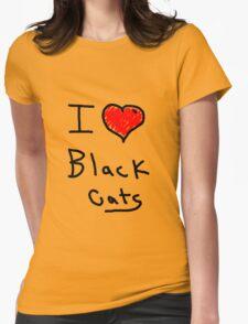 i love halloween black cats T-Shirt