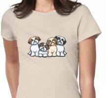 Four Shih Tzu Womens Fitted T-Shirt