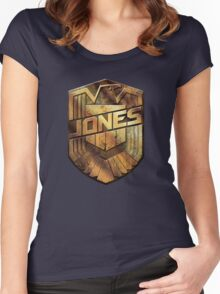 Custom Dredd Badge Shirt - (Jones)  Women's Fitted Scoop T-Shirt