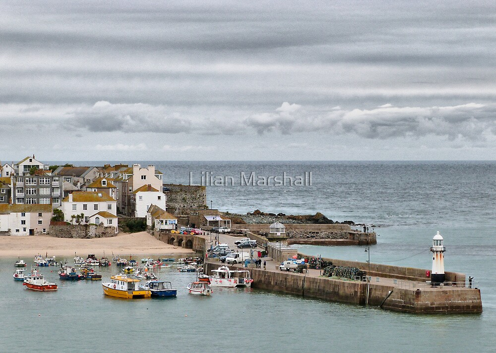 St Ives Harbour by Lilian Marshall