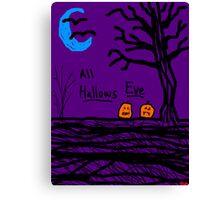 halloween jack o lantern all hallows eve Canvas Print