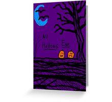 halloween jack o lantern all hallows eve Greeting Card