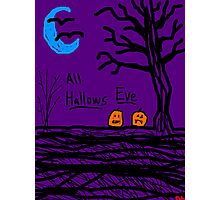 halloween jack o lantern all hallows eve Photographic Print