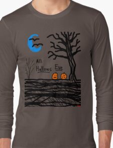 halloween jack o lantern all hallows eve Long Sleeve T-Shirt