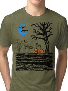 halloween jack o lantern all hallows eve Tri-blend T-Shirt