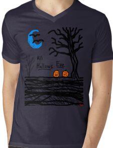 halloween jack o lantern all hallows eve Mens V-Neck T-Shirt
