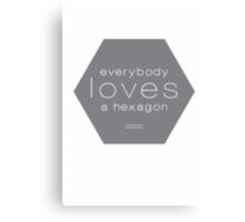 Everybody Loves A Hexagon Canvas Print