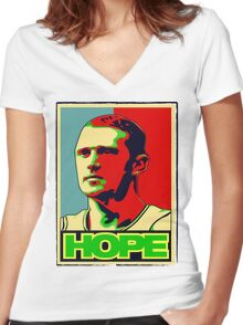 BRIAN SCALABRINE-HOPE Women's Fitted V-Neck T-Shirt