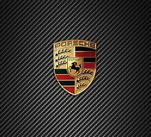 Porsche Emblem - Carbon Fiber  by arialite