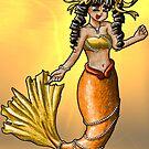 Mermaid - Orange by NuttyRachy