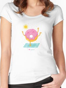 Yoga Donut Women's Fitted Scoop T-Shirt