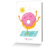 Yoga Donut Greeting Card