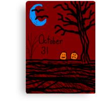 Halloween jack o lantern October 31  Canvas Print
