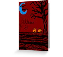 Halloween jack o lantern October 31  Greeting Card