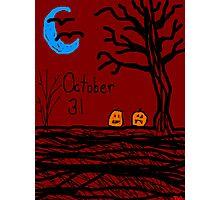 Halloween jack o lantern October 31  Photographic Print