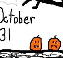 Halloween jack o lantern October 31  Sticker