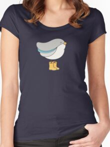 bird in boots Women's Fitted Scoop T-Shirt