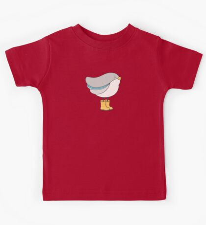 bird in boots Kids Tee