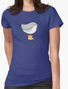 bird in boots Womens Fitted T-Shirt