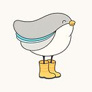 bird in boots by kimvervuurt