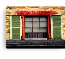 Old charm window Shutters Canvas Print