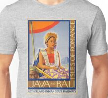 Vintage poster - Java and Bali Unisex T-Shirt