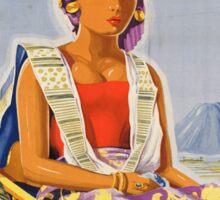 Vintage poster - Java and Bali Sticker