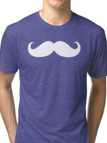 White mustache Tri-blend T-Shirt