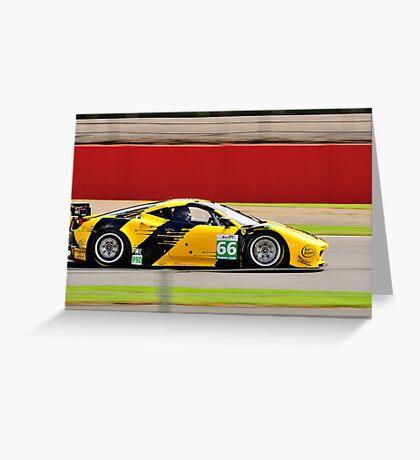 JMW Motorsport Ferrari No 66 Greeting Card