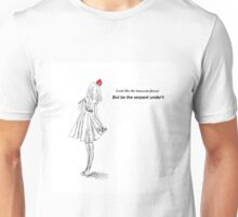 Look like the innocent flower Unisex T-Shirt