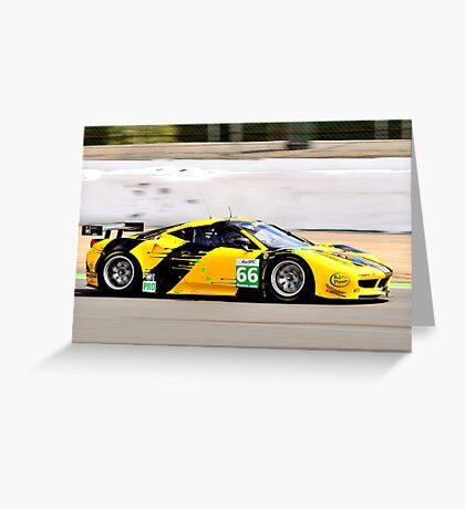 Ferrari 458 No 66 Greeting Card