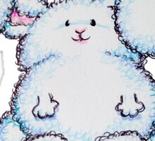 Fluffy Fabulous Bunny  Sticker