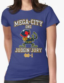 Mega-City One Judgin' Jury Womens Fitted T-Shirt