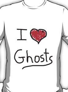 i love halloween ghosts T-Shirt