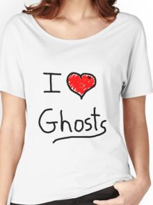 i love halloween ghosts Women's Relaxed Fit T-Shirt