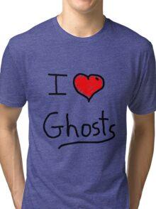 i love halloween ghosts Tri-blend T-Shirt
