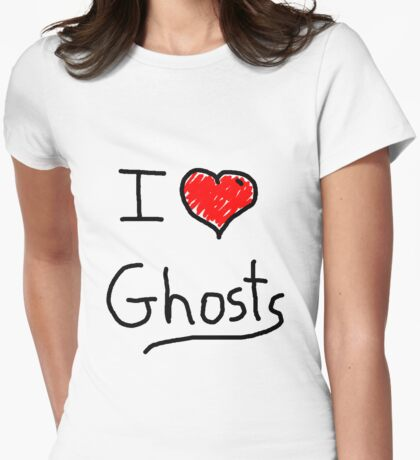 i love halloween ghosts Womens Fitted T-Shirt