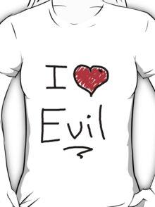 i love halloween evil T-Shirt