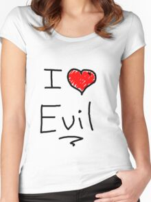 i love halloween evil Women's Fitted Scoop T-Shirt