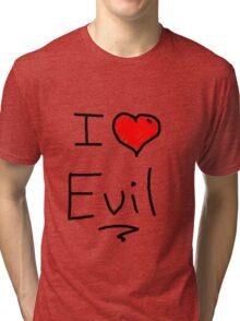 i love halloween evil Tri-blend T-Shirt