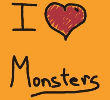 i love halloween monsters by Tia Knight