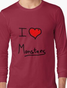 i love halloween monsters Long Sleeve T-Shirt