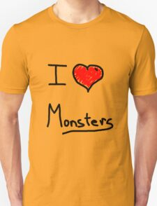 i love halloween monsters Unisex T-Shirt