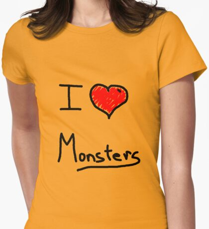 i love halloween monsters Womens Fitted T-Shirt