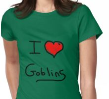 i love goblins halloween Womens Fitted T-Shirt