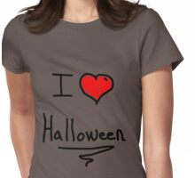 i love halloween Womens Fitted T-Shirt