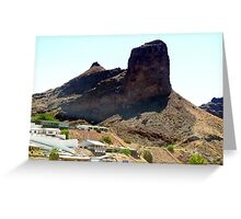 Giant mountain before Parker, AZ. Greeting Card